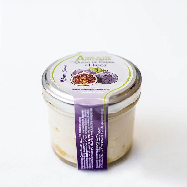 Crema de queso cabra e higos