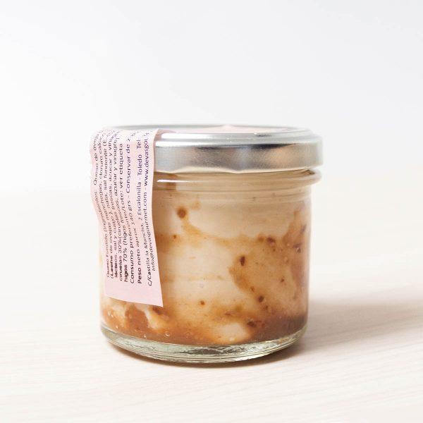 Crema de queso manchego con higos y ciruelas