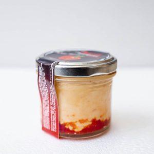 Crema de queso y pimientos rojos